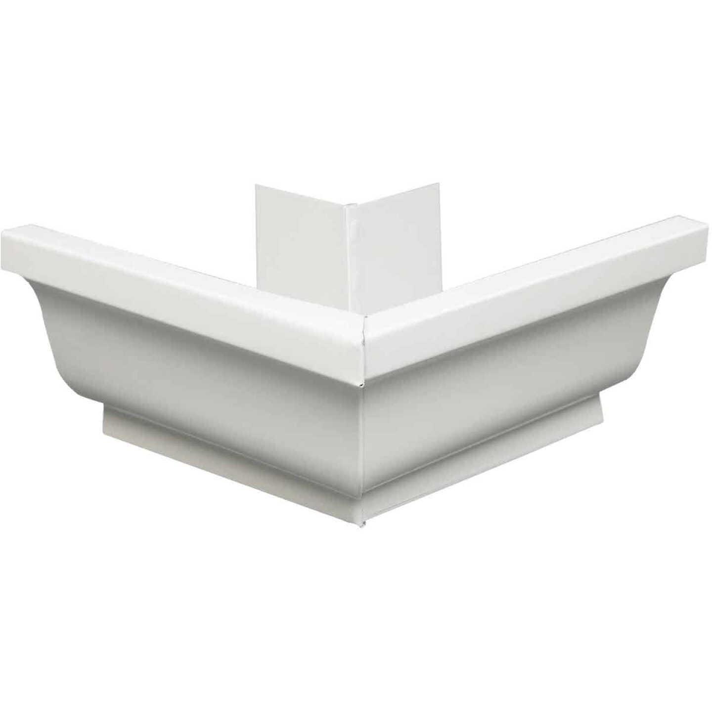Amerimax 4 In. Galvanized White Mitre Gutter Outside Corner Image 1
