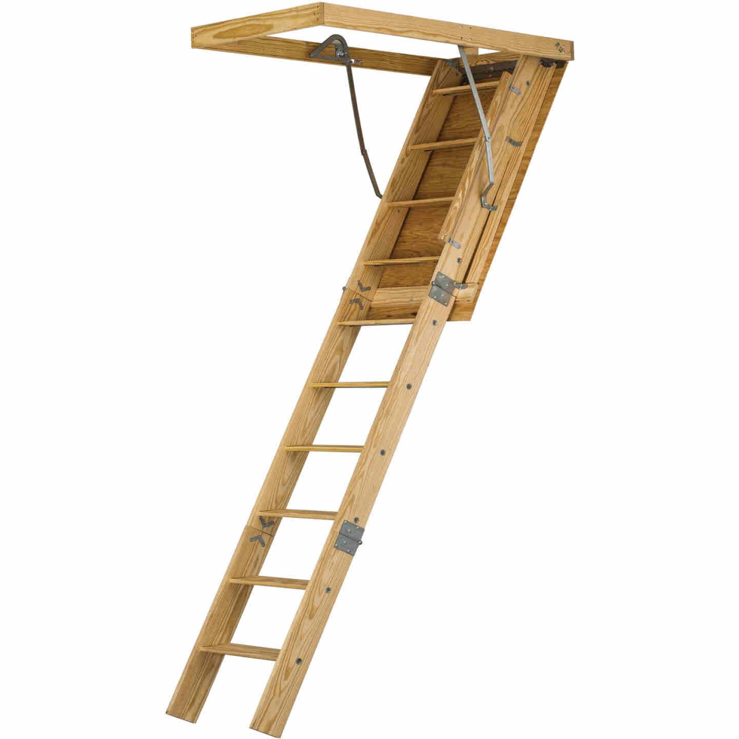 Louisville Spacemaker 8 Ft. 9 In. 30 In. x 54 In. Wood Attic Stairs, 350 Lb. Load Image 1