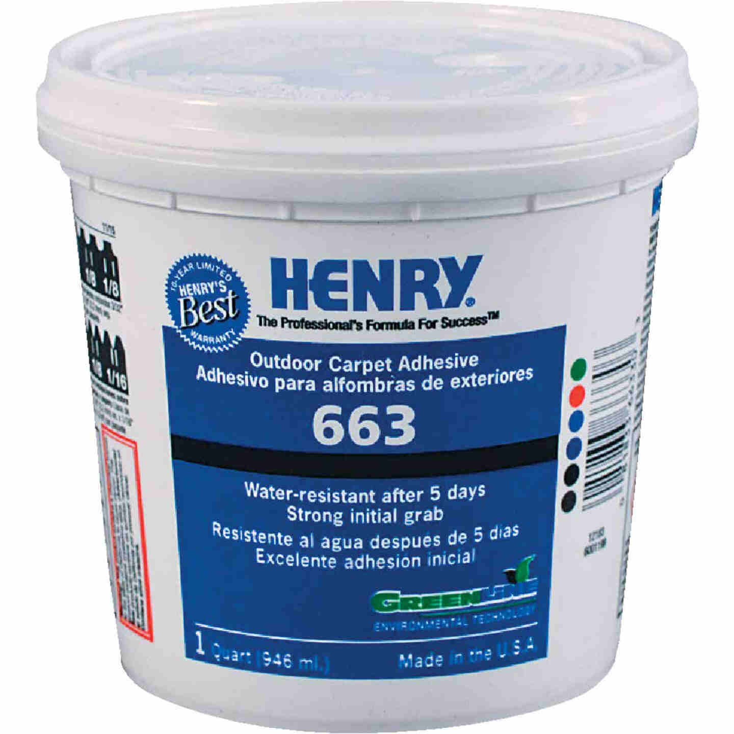 Henry Premium Outdoor Carpet Adhesive, Quart Image 1