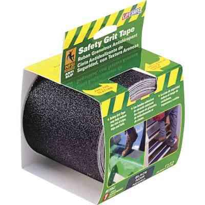 LIFESAFE 4 In.x 15 Ft. Black Anti-Slip Walk Safety Tape