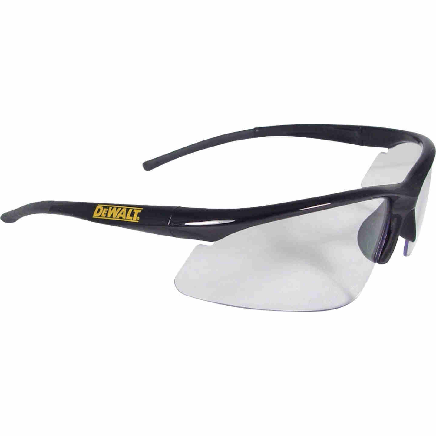 DeWalt Radius Black/Yellow Frame Safety Glasses with Clear Lenses Image 1