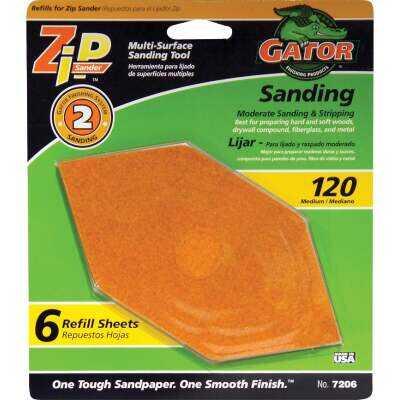 Gator 120G Zip Hand Sander Refill (6 Count)