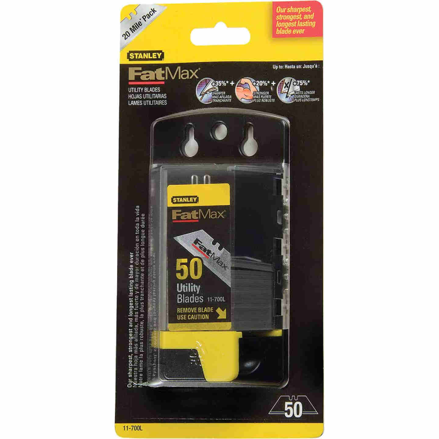 Stanley FatMax 2-Point 2-7/16 In. Utility Knife Blade (50-Pack) Image 2