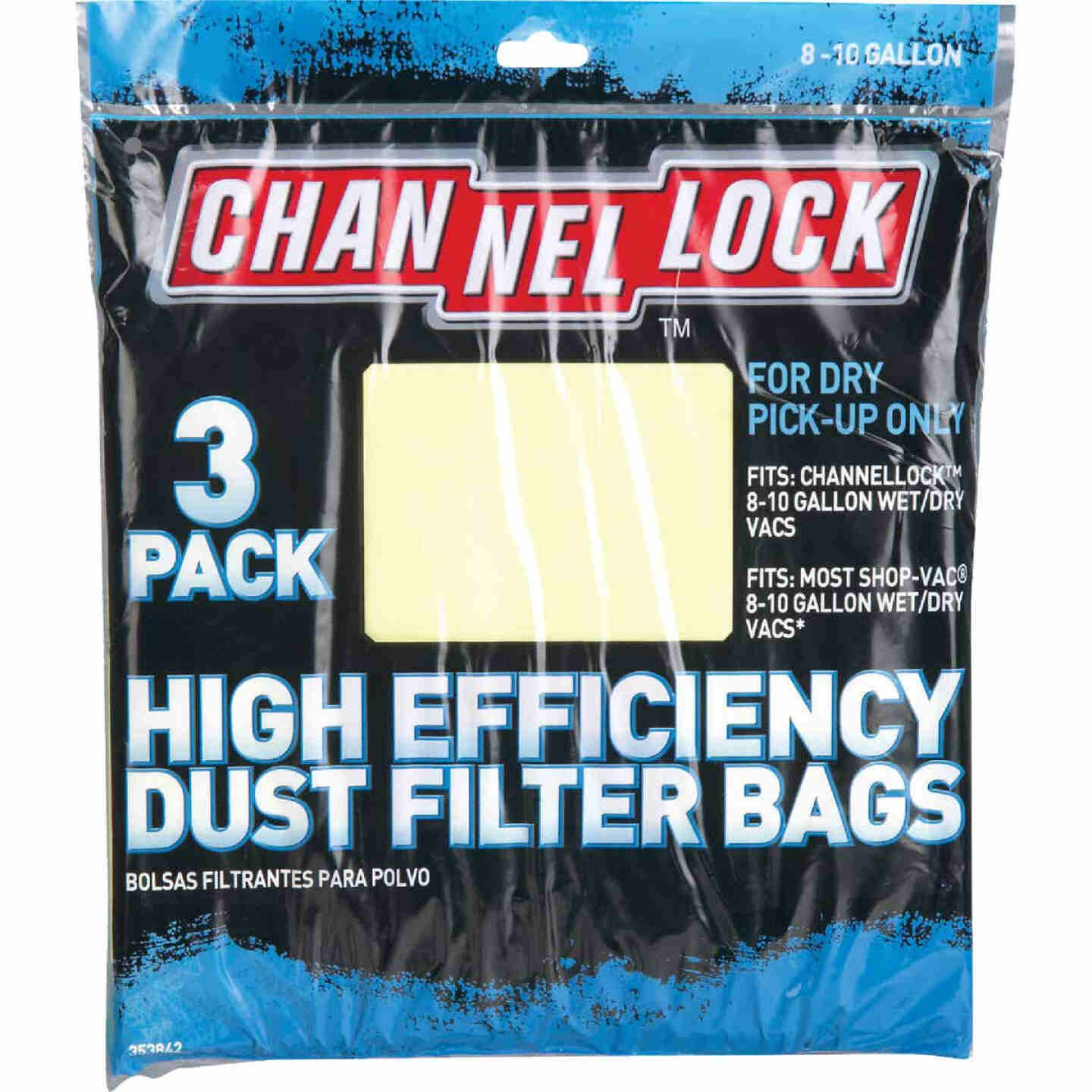 Channellock Paper High Efficiency 8 to 10 Gal. Filter Vacuum Bag (3-Pack) Image 2