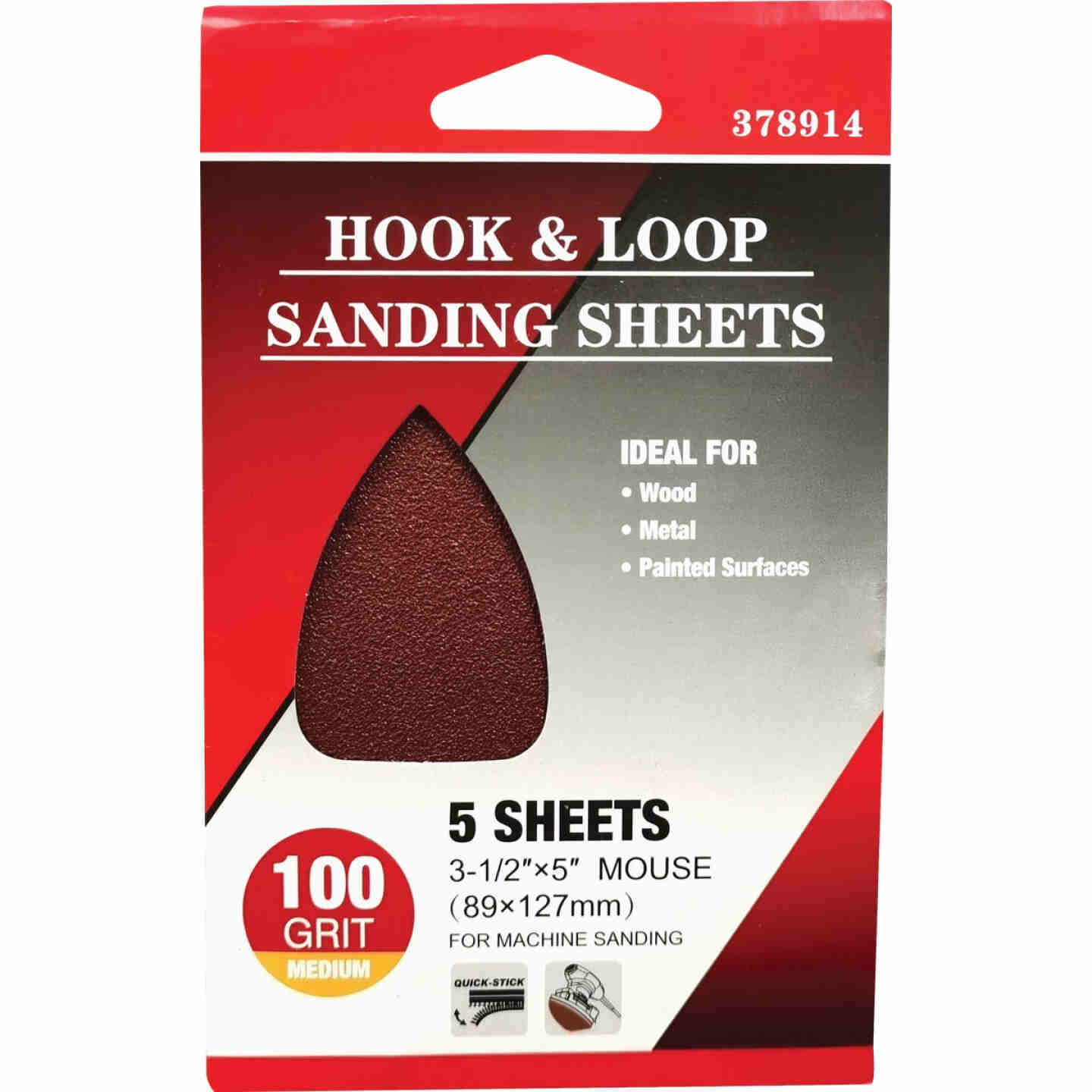 Boss 100 Grit Mouse Sandpaper (5-Pack) Image 1