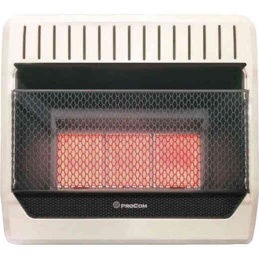 ProCom 28,000 / 30,000 BTU Natural Gas or Propane Gas Vent-Free Infrared Plaque Gas Wall Heater