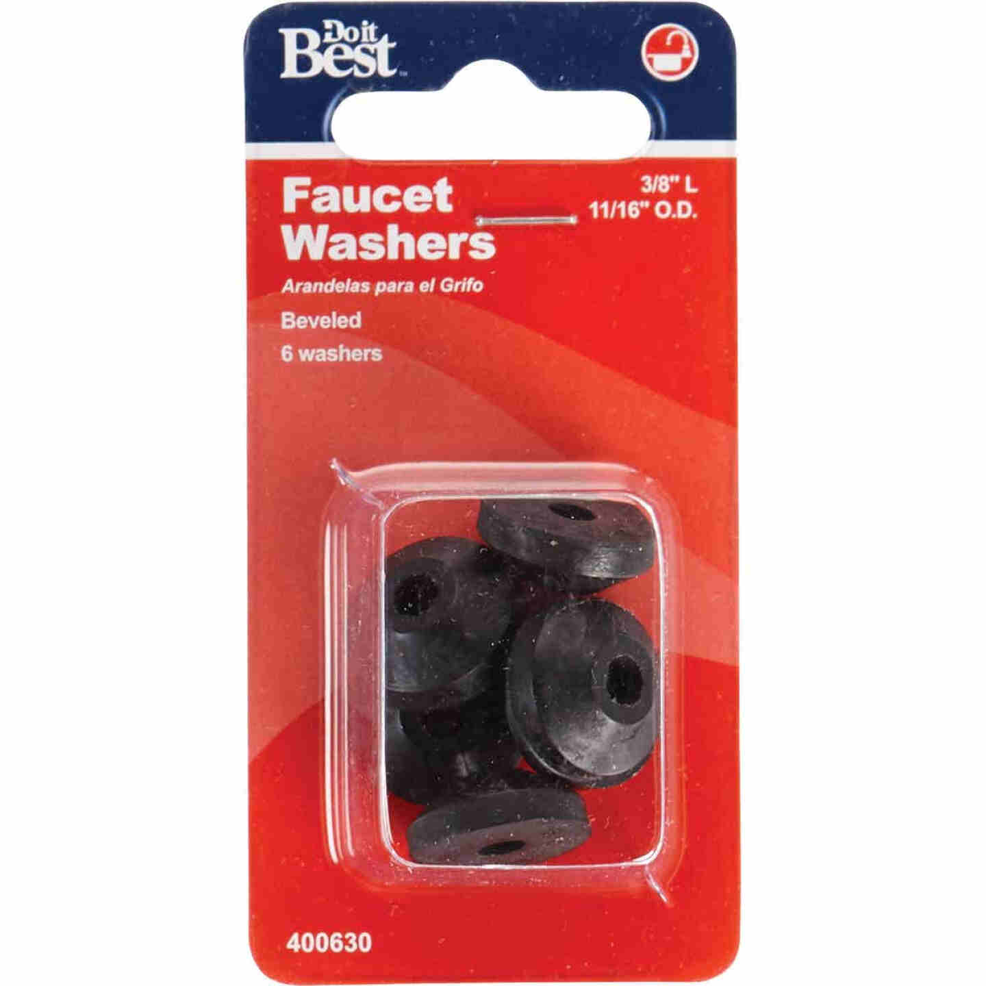 Do it 11/16 In. Black Beveled Faucet Washer (6 Ct.) Image 2
