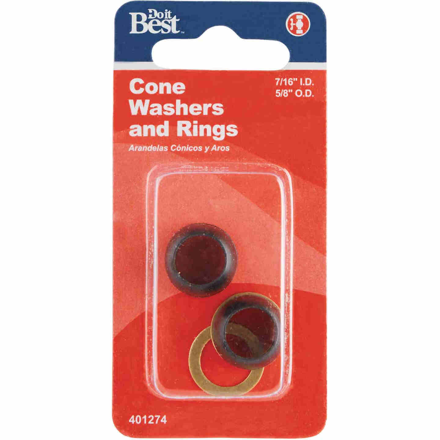 Do it 7/16 In. x 5/8 In. Black Cone Faucet Washer Image 2