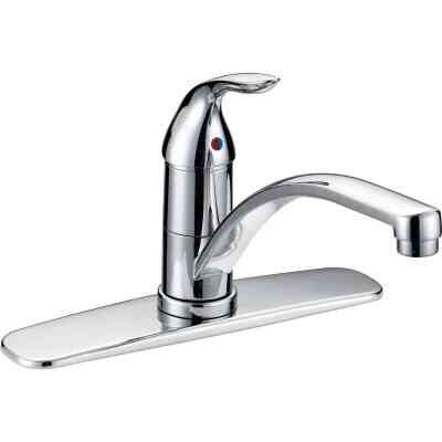Home Impressions Single Handle Lever Kitchen Faucet, Chrome