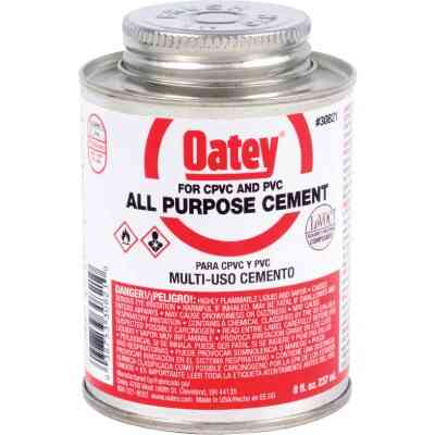 Oatey 8 Oz. Heavy Bodied Clear Multi Purpose Cement CPVC and PVC