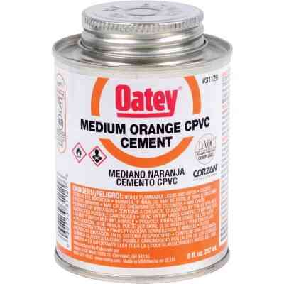 Oatey 8 Oz. Medium Bodied Orange CPVC Cement