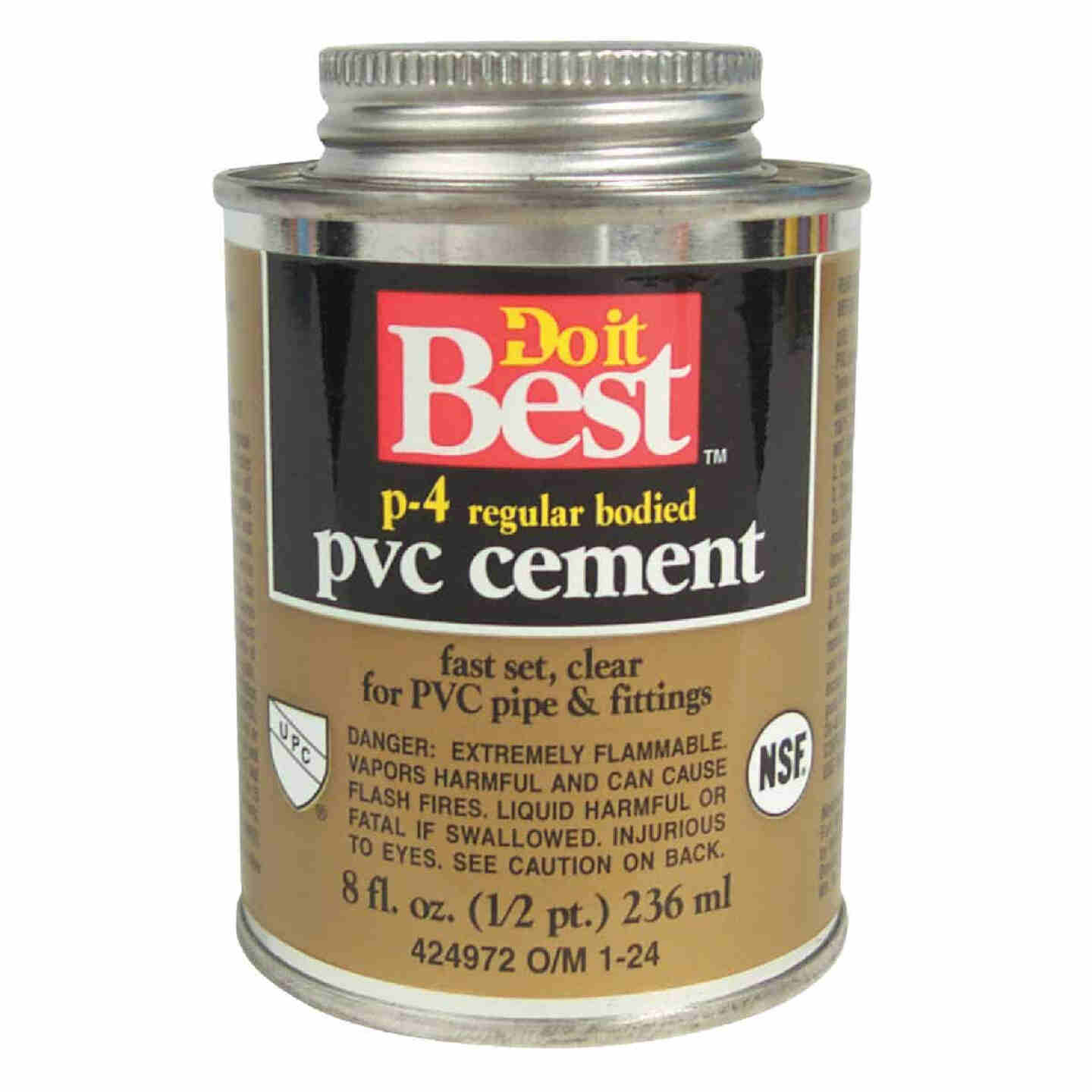 Do it Best 8 Oz. Regular Bodied Clear PVC Cement Image 1