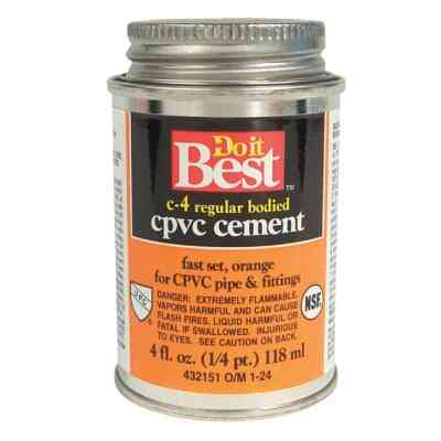 Do it Best 4 Oz. Regular Bodied Orange CPVC Cement