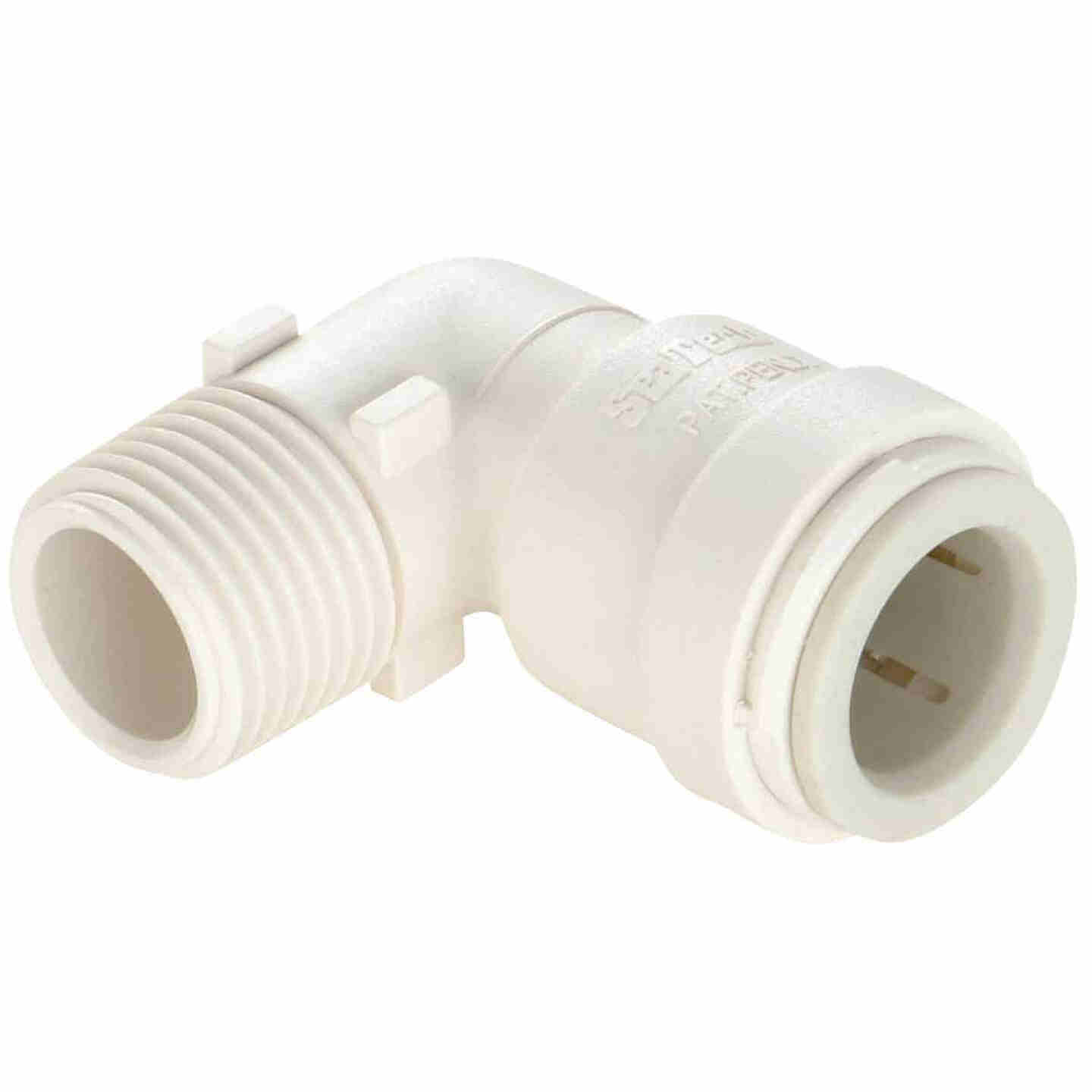 Watts 1/2 In. CTS x 1/2 In. MPT 90 Deg. Quick Connect Plastic Elbow (1/4 Bend) Image 1