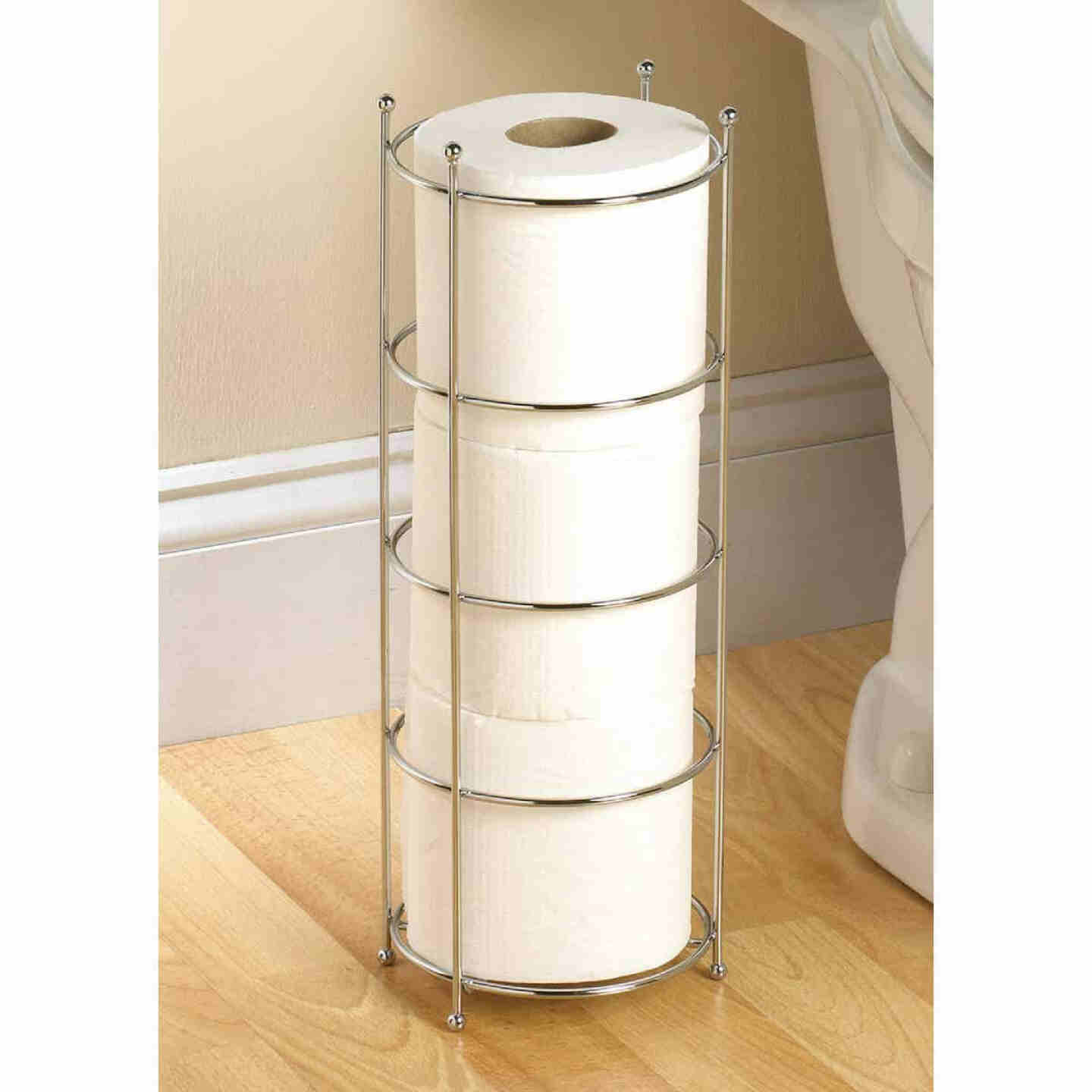 Zenith Polished Chrome Freestanding Toilet Paper Holder Image 1