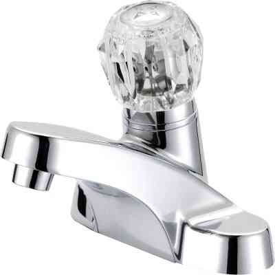 Home Impressions Chrome 1-Handle Knob 4 In. Centerset Bathroom Faucet