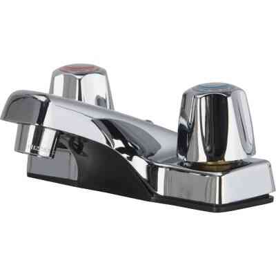 Home Impressions Chrome 2-Handle Lever 4 In. Centerset Bathroom Faucet