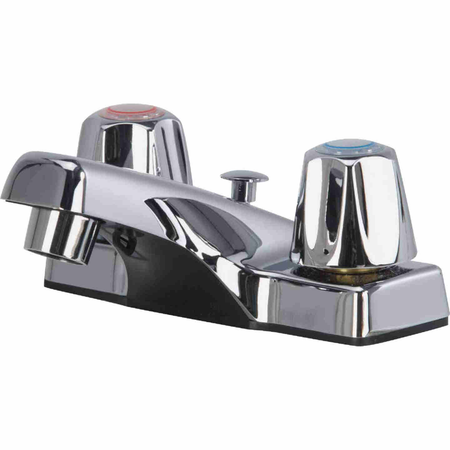 Home Impressions Chrome 2-Handle Knob 4 In. Centerset Bathroom Faucet with Pop-Up Image 1