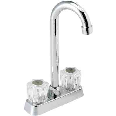 Home Impressions Polished Chrome Round Double Handle Bar Faucet