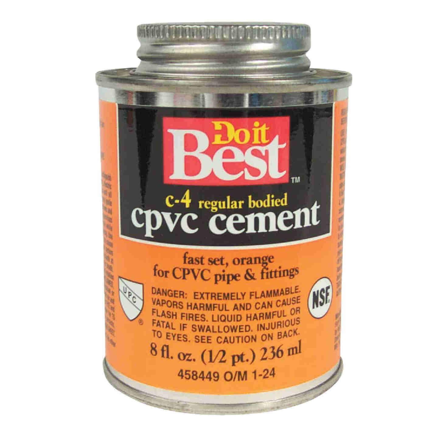 Do it Best 8 Oz. Regular Bodied Orange CPVC Cement Image 1