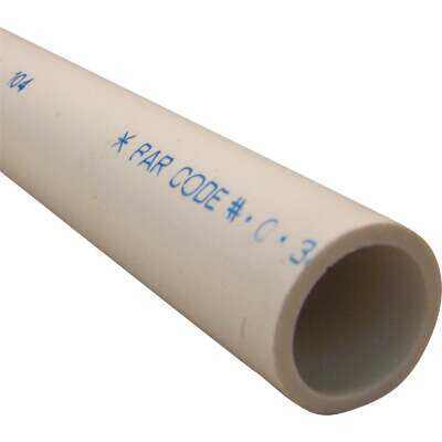 Charlotte Pipe 1-1/4 In. x 5 Ft. Schedule 40 Cold Water PVC Pressure Pipe