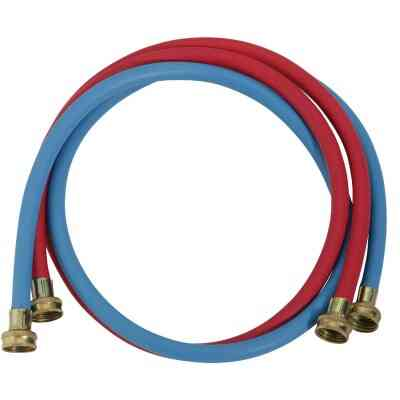 Do it Best 3/8 In. X 5 Ft. Reinforced EPDM Rubber Washing Machine Hose (2-Pack)