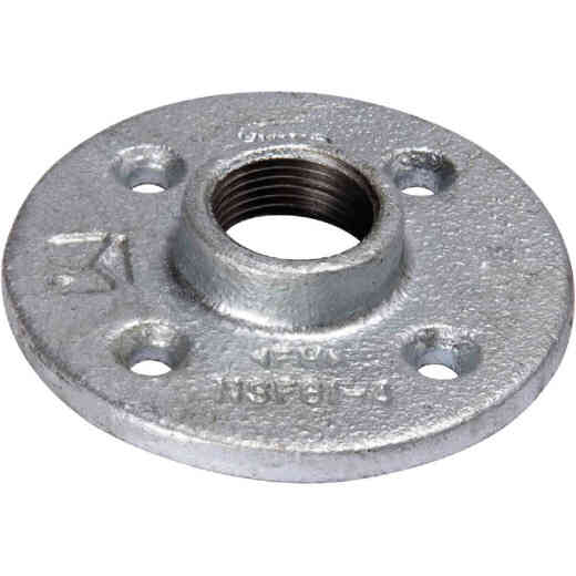 Southland 1 In. Malleable Iron Galvanized Floor Flange