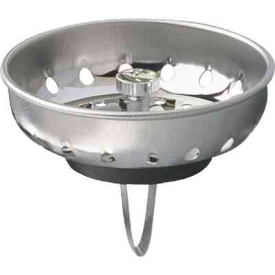 Keeney 3-3/8 In. Stainless Steel Basket Strainer Stopper