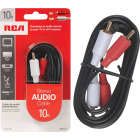 RCA 10 Ft. Black Stereo Audio Cable Image 1