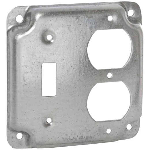 Raco Toggle Switch/Duplex Outlet 4 In. x 4 In. Square Device Cover