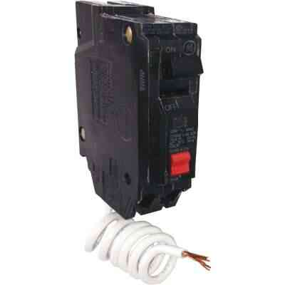 GE THQL 20A Single-Pole GFCI Breaker