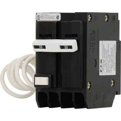 Eaton BR 50A Double-Pole GFCI Breaker