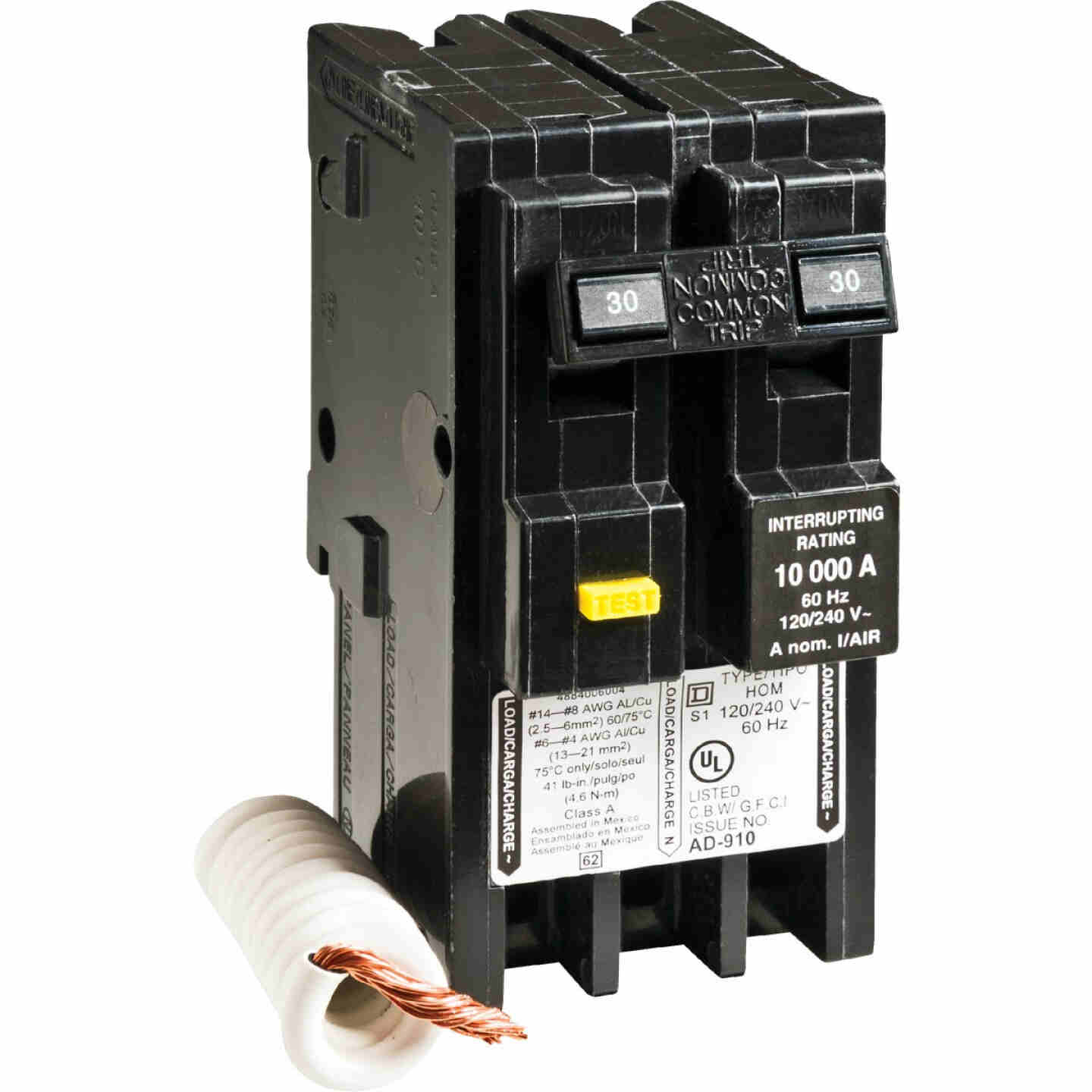 Square D Homeline 30A Double-Pole GFCI breaker Image 1