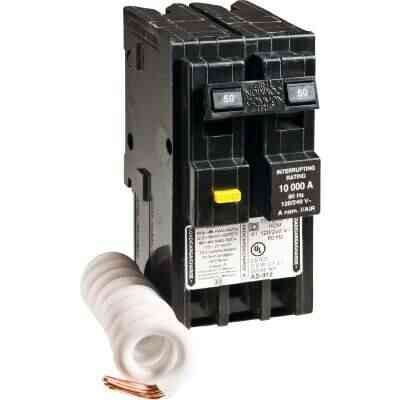 Square D Homeline 50A Double-Pole GFCI breaker