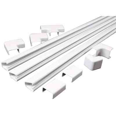 Wiremold CordMate 1 In. x 4 Ft. White Channel