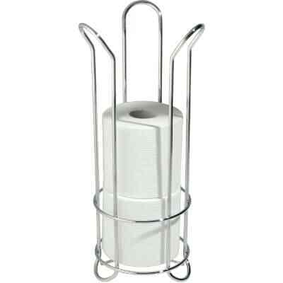 InterDesign Forma Chrome Tulip Freestanding Toilet Paper Holder
