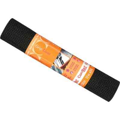 Con-Tact 12 In. x 5 Ft. Black Beaded Grip Non-Adhesive Shelf Liner