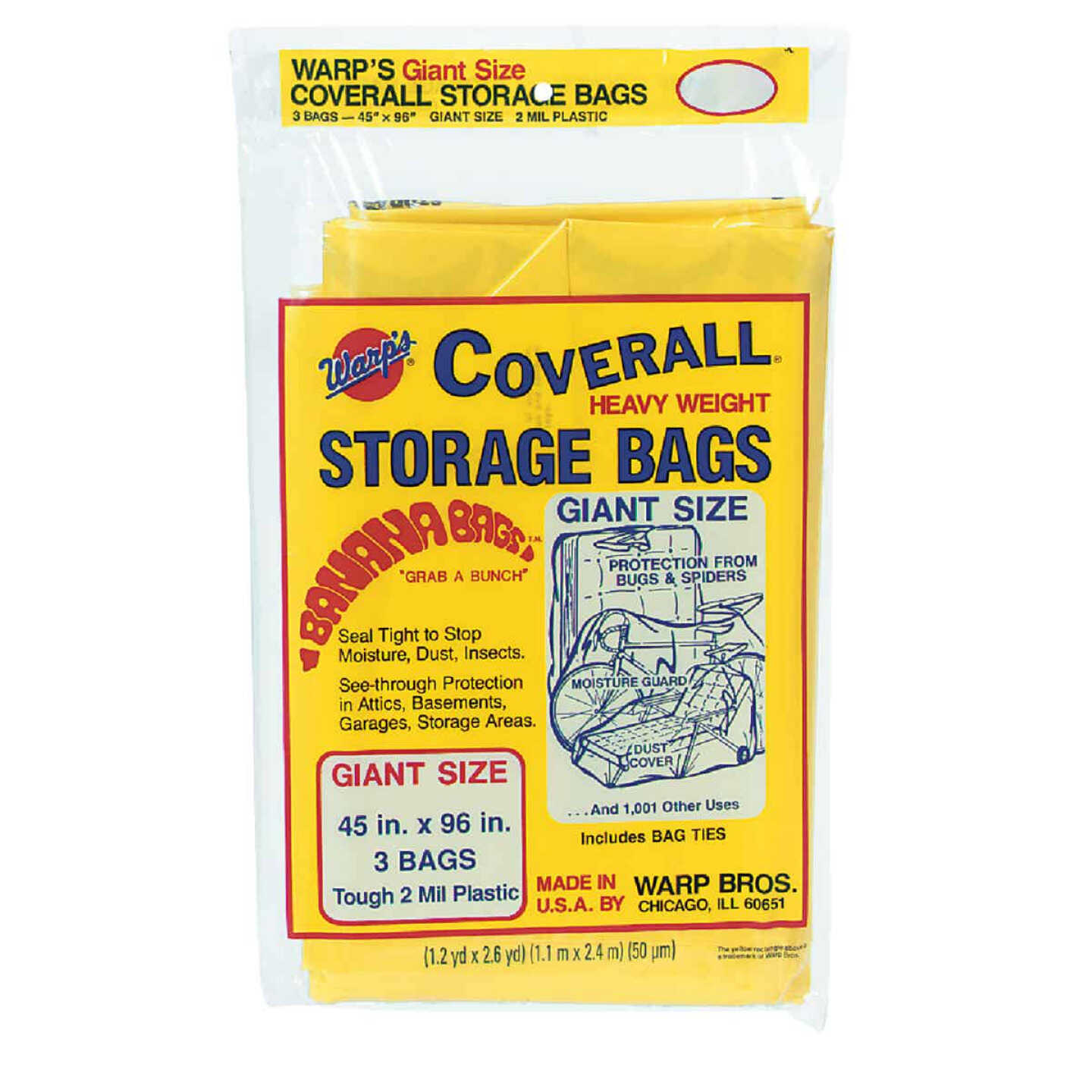 Warp's Coverall 45 In. x 96 In. Heavyweight Storage Bag (3-Count) Image 1