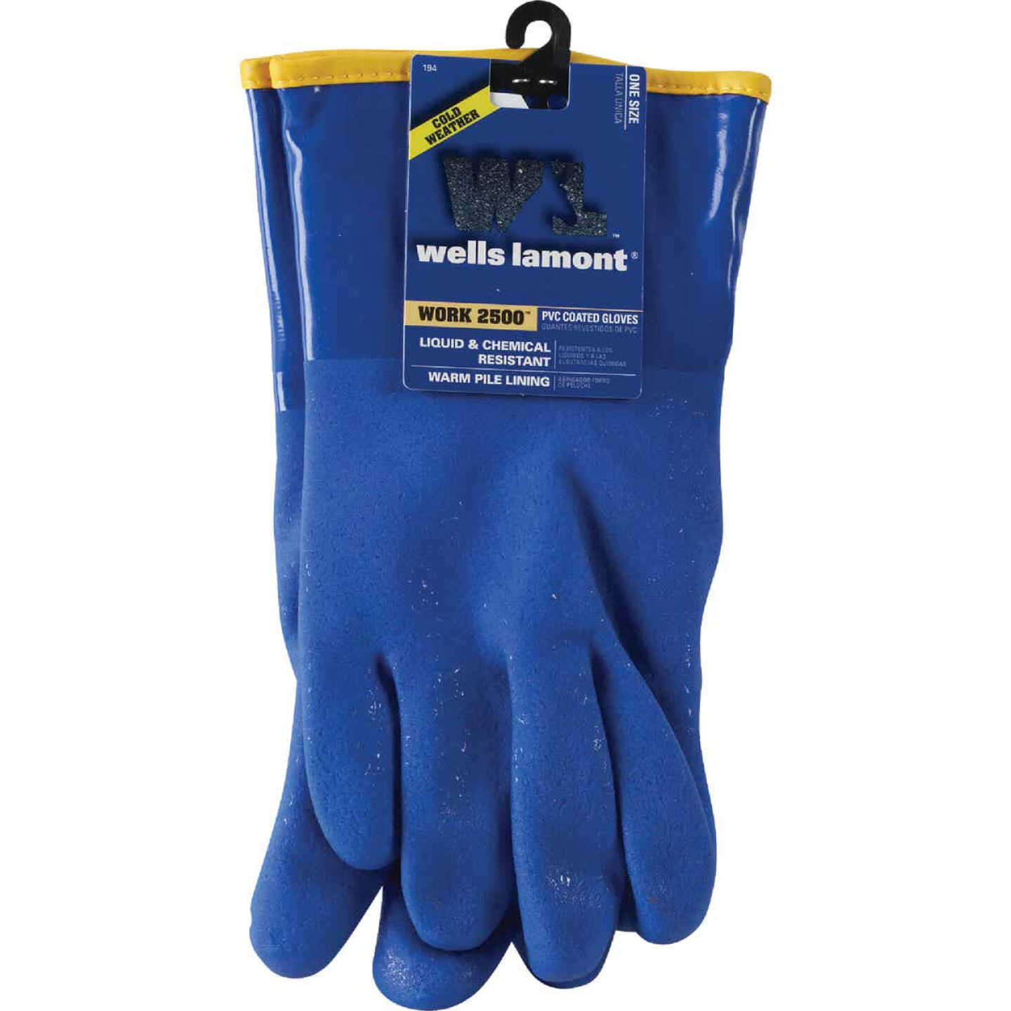Wells Lamont Men's 1 Size Fits All Chemical Resistant PVC Coated Glove Image 2