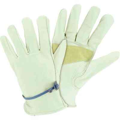 West Chester Protective Gear Men's Medium Heavy-Duty Leather Driver Glove