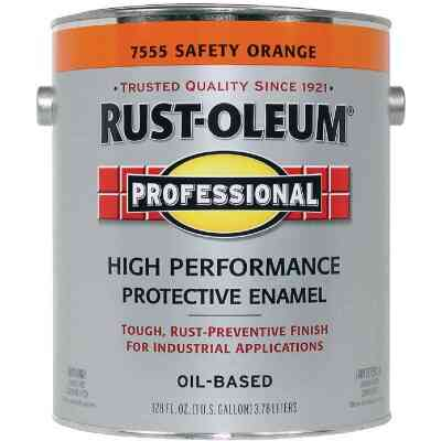 Rust-Oleum Professional Oil-Based Gloss VOC Formula Rust Control Enamel, Safety Orange, 1 Gal.