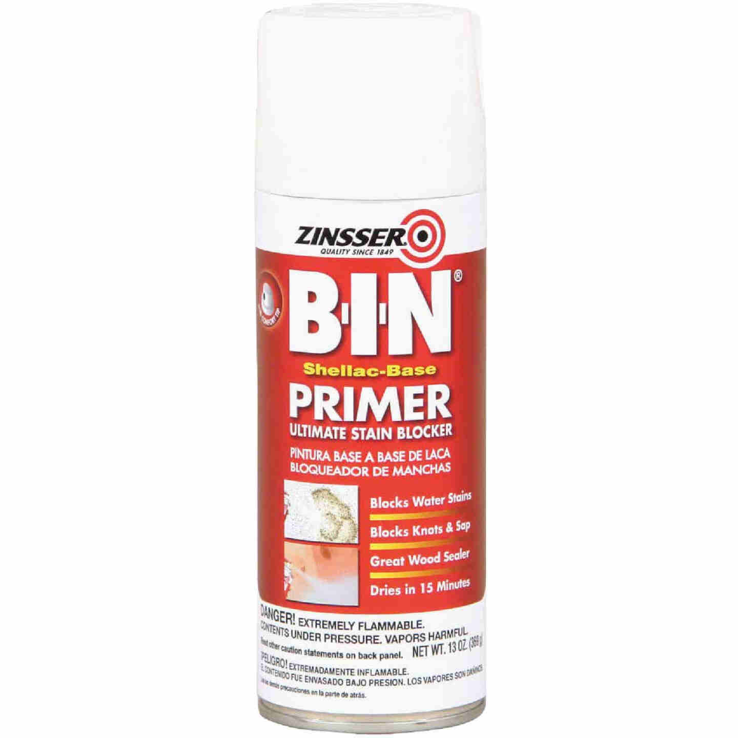 Zinsser B-I-N 13 Oz. Shellac-Base Primer Spray, White Image 1