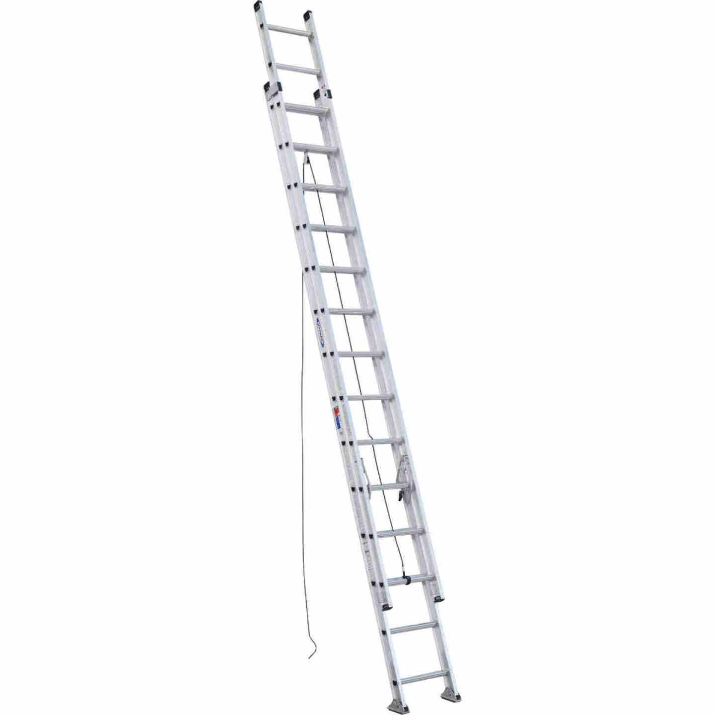 Werner 28 Ft. Aluminum Extension Ladder with 300 Lb. Load Capacity Type IA Duty Rating Image 1