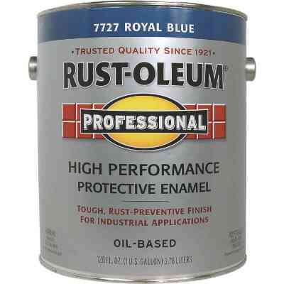 Rust-Oleum Professional Oil-Based Gloss VOC Formula Rust Control Enamel, Royal Blue, 1 Gal.