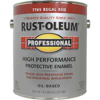 Rust-Oleum Professional Oil-Based Gloss VOC Formula Rust Control Enamel, Regal Red, 1 Gal.
