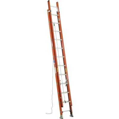 Werner 24 Ft. Fiberglass Extension Ladder with 300 Lb. Load Capacity Type IA Duty Rating