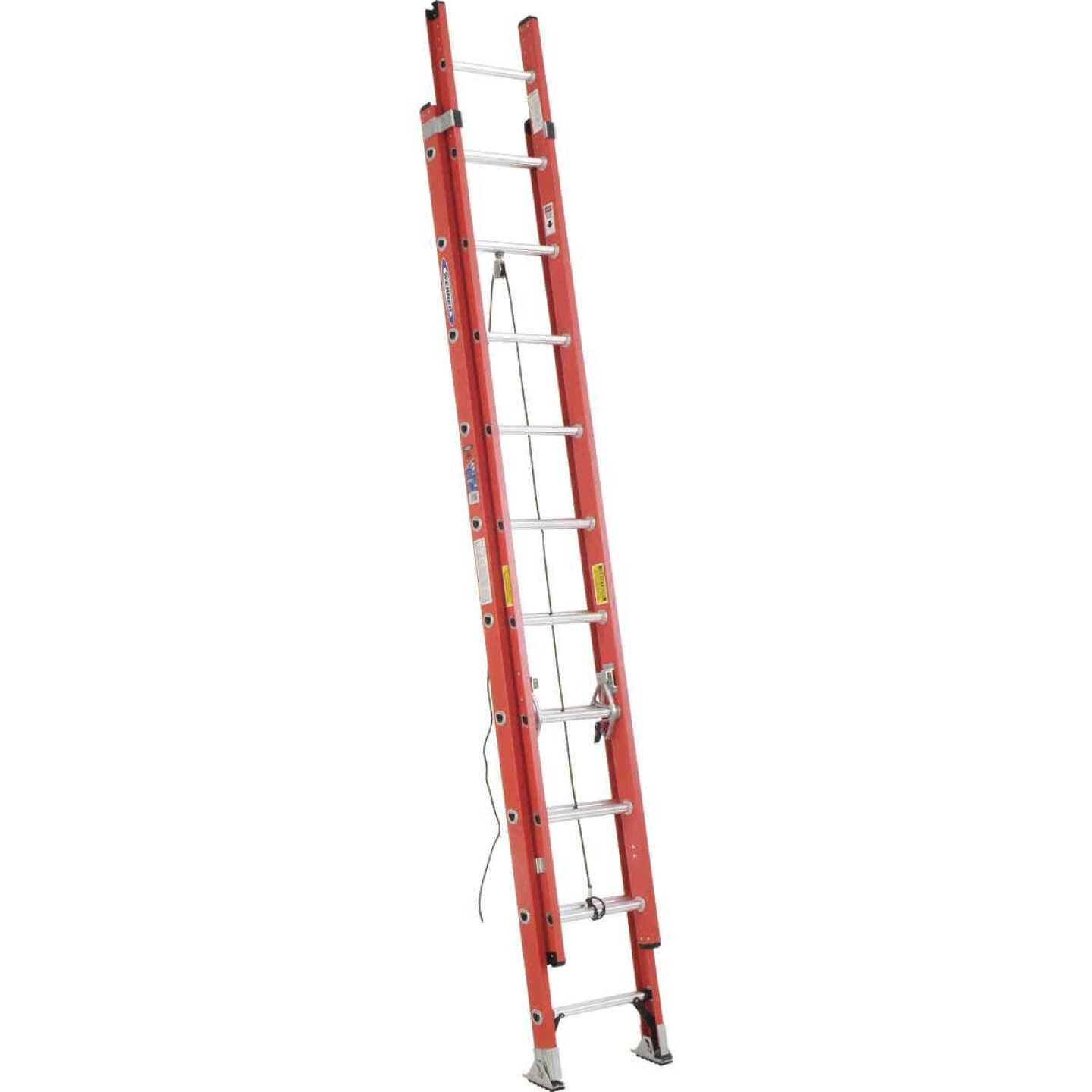 Werner 20 Ft. Fiberglass Extension Ladder with 300 Lb. Load Capacity Type IA Duty Rating Image 1