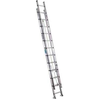 Werner 24 Ft. Aluminum Extension Ladder with 225 Lb. Load Capacity Type II Duty Rating
