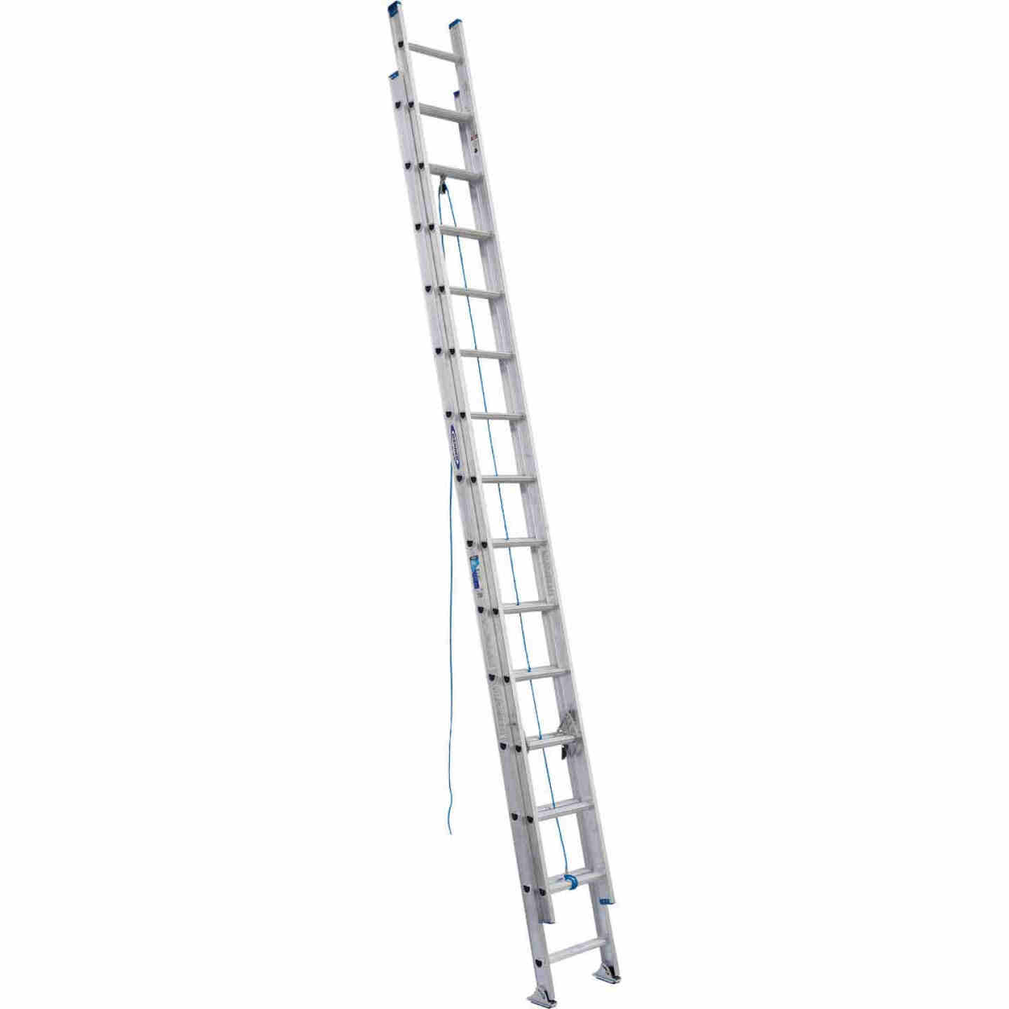 Werner 28 Ft. Aluminum Extension Ladder with 250 Lb. Load Capacity Type I Duty Rating Image 1