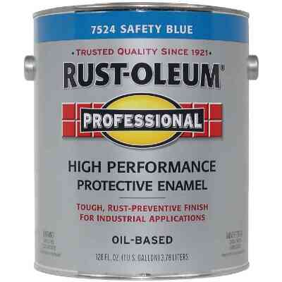 Rust-Oleum Professional Oil-Based Gloss VOC Formula Rust Control Enamel, Safety Blue, 1 Gal.